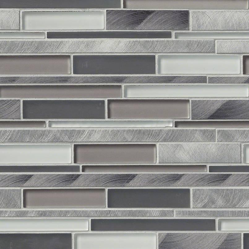 Cityscape Interlocking Pattern 8mm Metal Tile Kitchen
