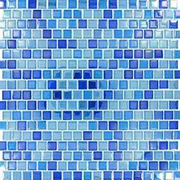 Dark Blue Blend  Glass Tile