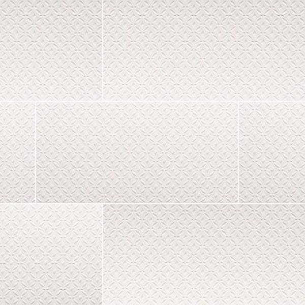 Dymo Pattern White 12X24 Glossy