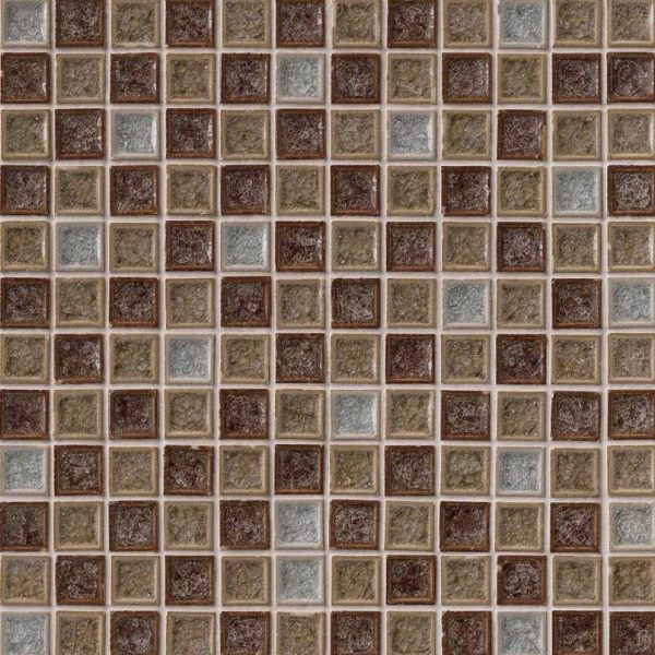 Fossil Canyon 1x1x8mm Blend Glass Backsplash Tile