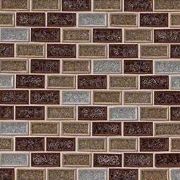Fossil Canyon 1x2x8mm Blend Glass Tile