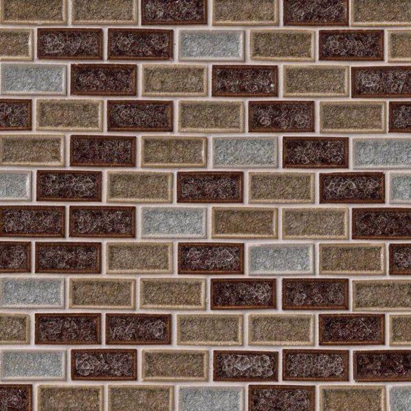 Fossil Canyon 1x2x8mm Blend Glass Backsplash Tile