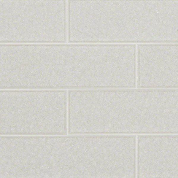 Frosted Icicle Glass Subway Backsplash Tile 3x9