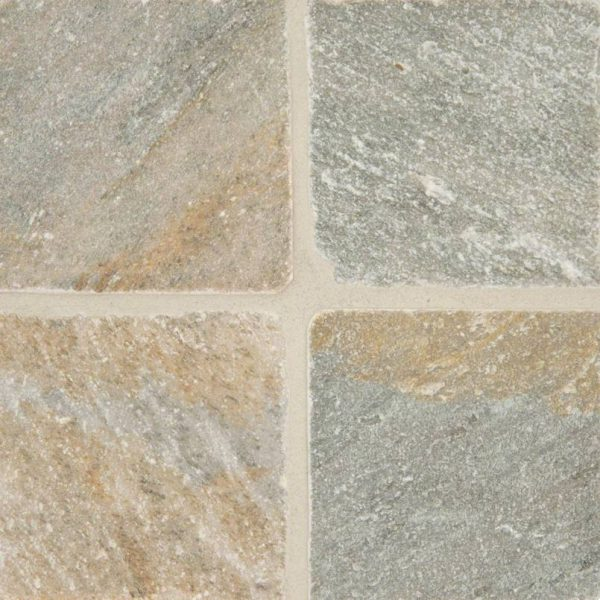 Golden White Quartzite 6x6 Tumbled and Gauged Tile