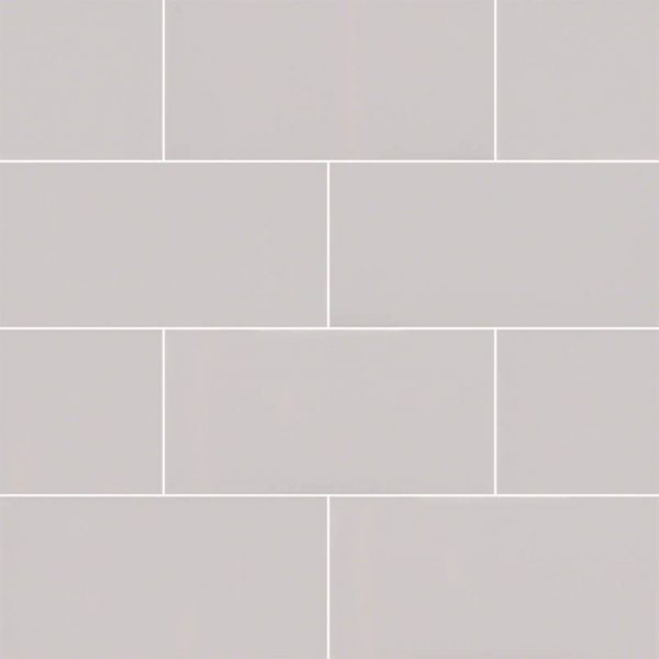 Gray Glossy Subway Tile 3x6