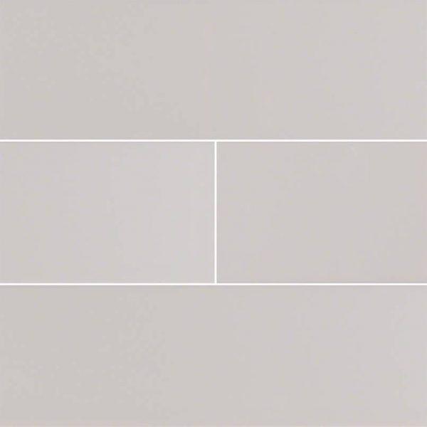 Gray Glossy Subway Tile 4x16
