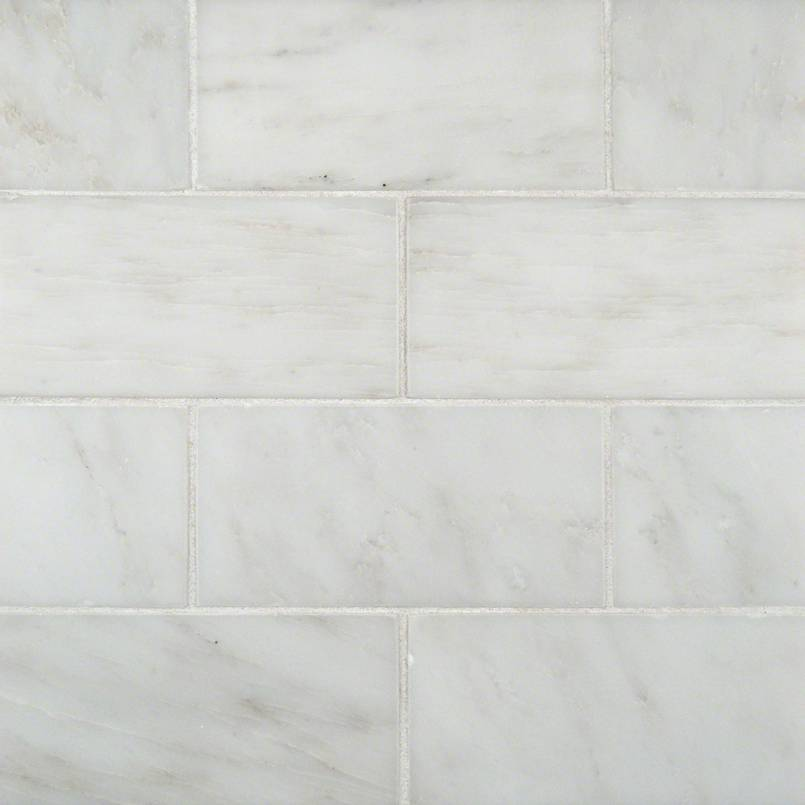 Greecian White Marble Subway Tile 3x6 Kitchen Cabinets