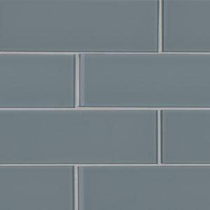 Harbor Gray 3x9x8mm Glass Backsplash Tile