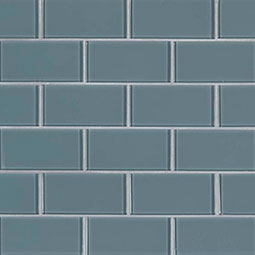 Harbor Gray Subway 2x4x8mm Glass Tile