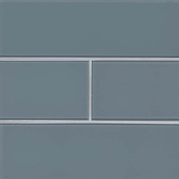 Harbor Gray Subway Tile 4x12x8mm Glass Backsplash Tile