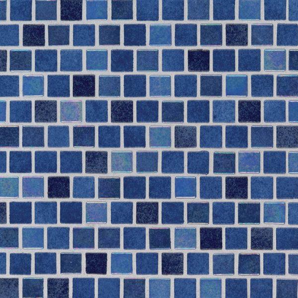 Hawaiian Blue 1x1x4mm Staggered  Glass Backsplash Tile