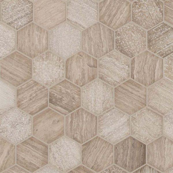 Honey Comb Hexagon Multi Finish Backsplash Tile
