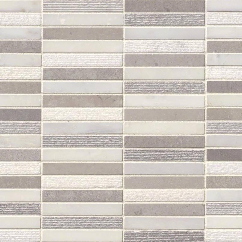 Linea Mixed Finish Pattern Backsplash Tile Kitchen