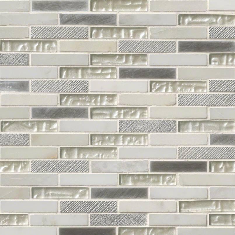 Ocean Crest Brick 5 8x3x8mm Metal Tile Kitchen Cabinets