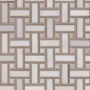 Renaissance Basketweave Pattern Honed Tile