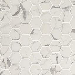 Statuario Celano Hexagon Backsplash Tile