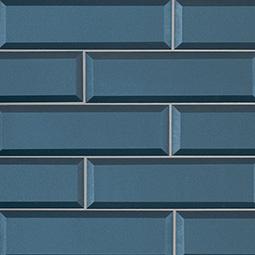 Tahiti Blue 2.5x8x8mm Beveled Glass Backsplash Tile