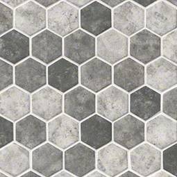 Urban Tapestry Hexagon 6mm  Glass Backsplash Tile