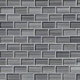 Winter Grey Brick 1x2x8mm Glass Backsplash Tile