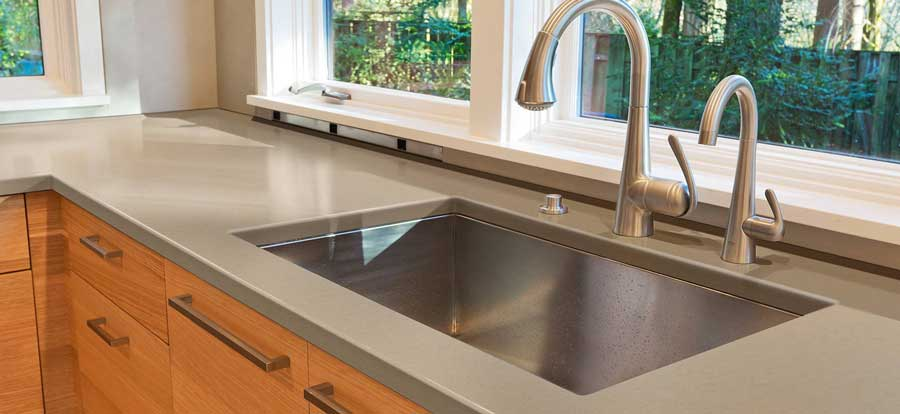 quartz countertop pros and cons, kitchen quartz
