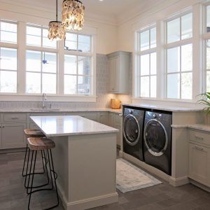 Mindful Gray on Maple Beaded Inset using Homestead Door