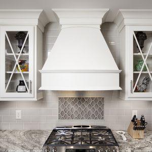 Repose Gray on Maple Standard Overlay using Square Flat Door