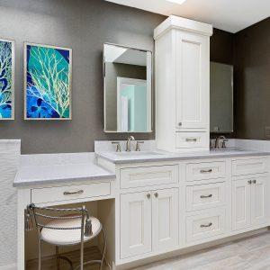 Soft White on Maple Beaded Inset using Aspen Door