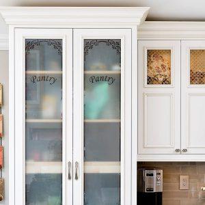 Soft White on Maple Flush Inset using Charleston Door